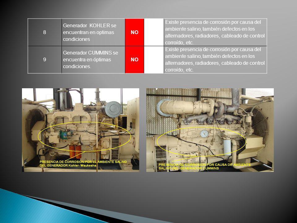 8 Generador KOHLER se encuentran en optimas condiciones. NO.