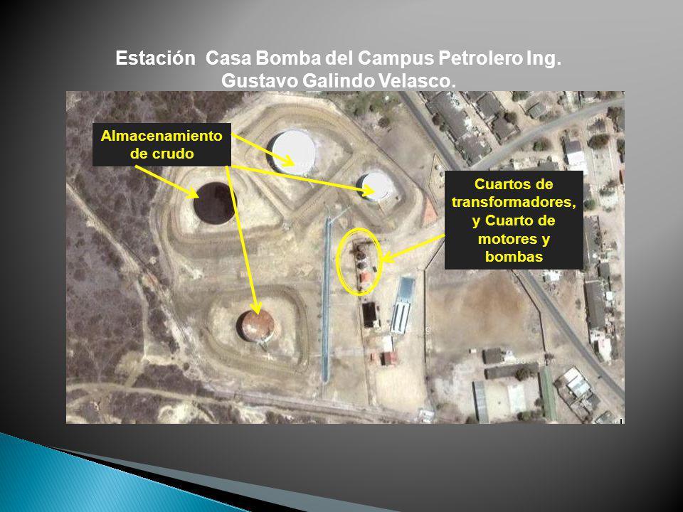 Estación Casa Bomba del Campus Petrolero Ing. Gustavo Galindo Velasco.