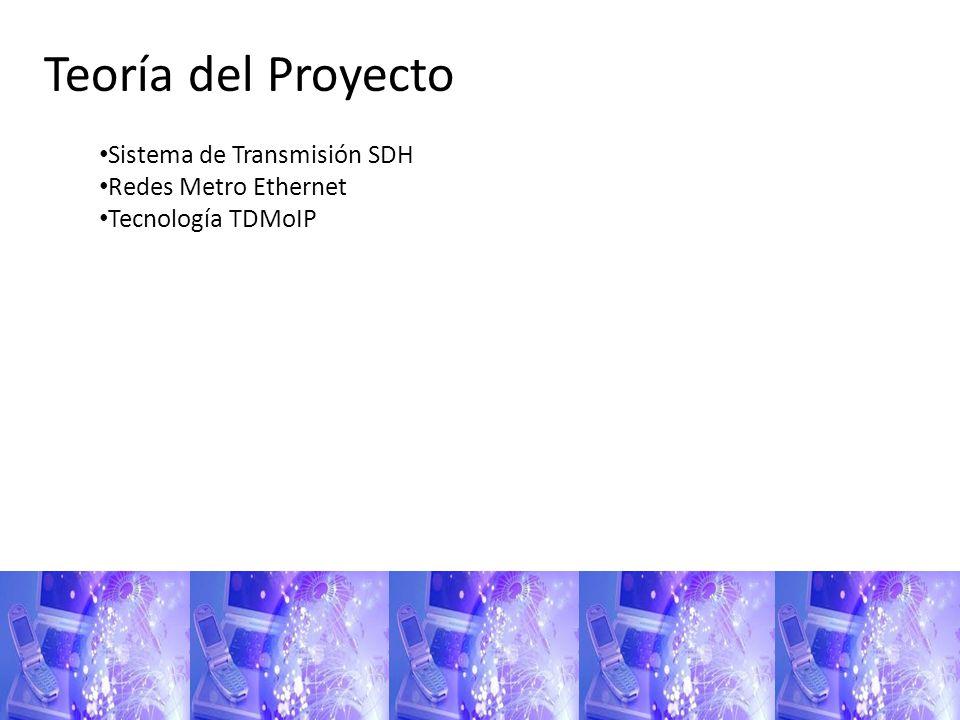Teoría del Proyecto Sistema de Transmisión SDH Redes Metro Ethernet