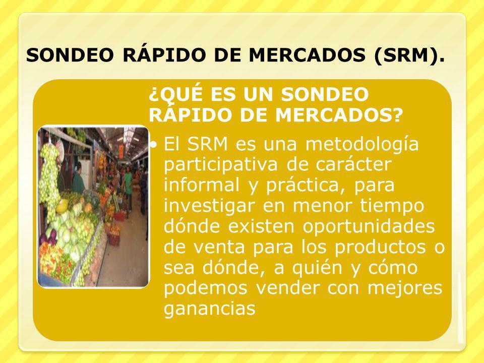 SONDEO RÁPIDO DE MERCADOS (SRM).