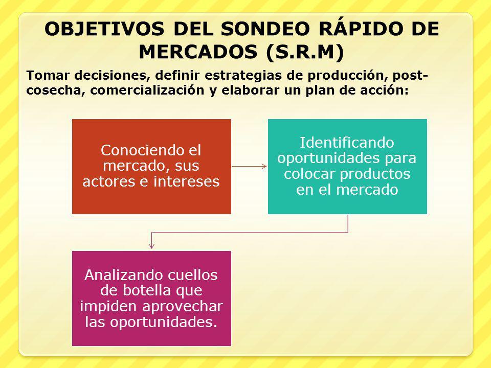 OBJETIVOS DEL SONDEO RÁPIDO DE MERCADOS (S.R.M)