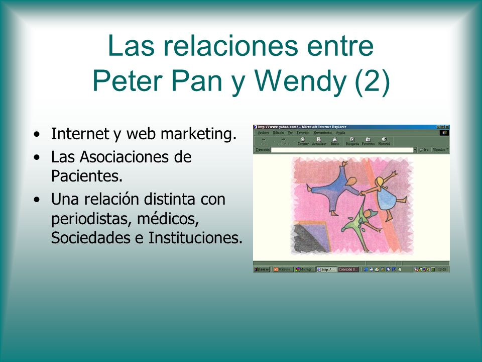 Las relaciones entre Peter Pan y Wendy (2)