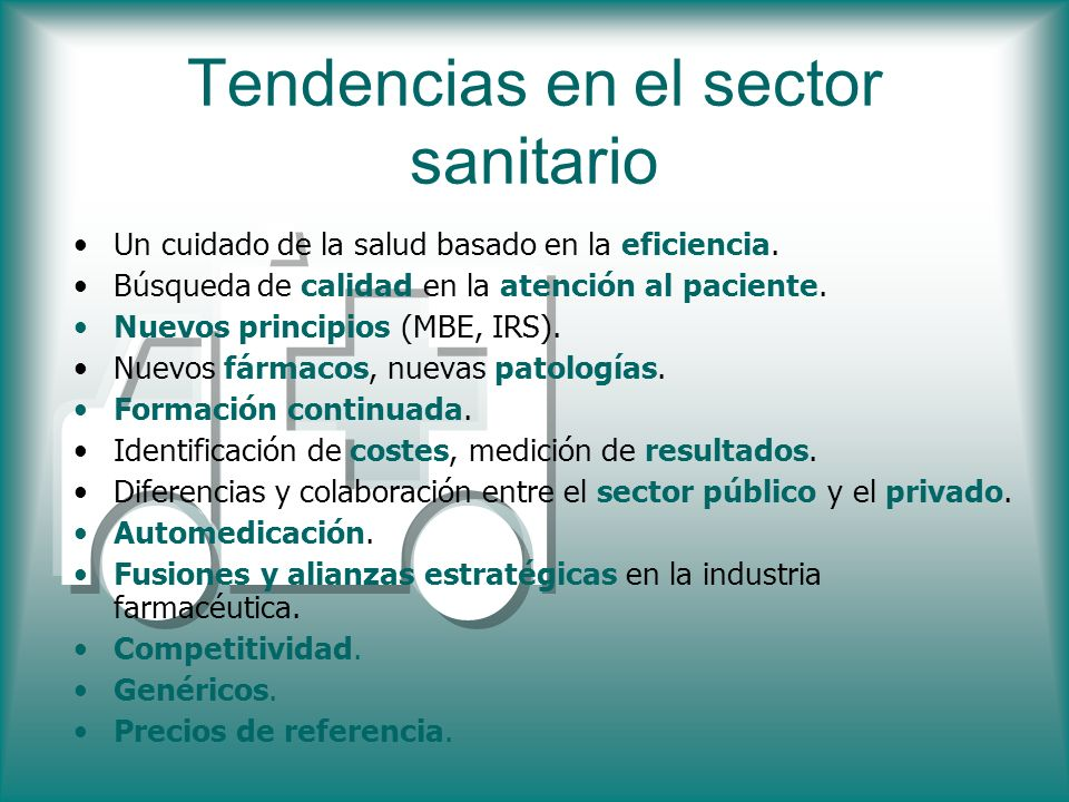 Tendencias en el sector sanitario