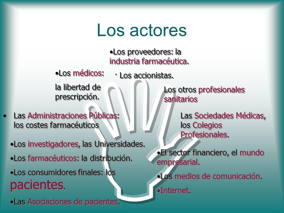I Los actores Los proveedores: la industria farmacéutica.