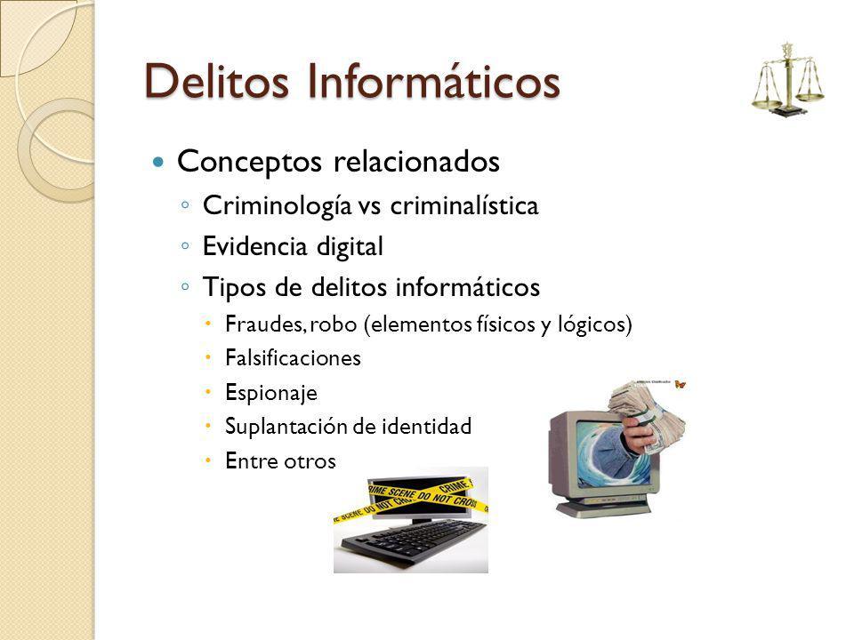Delitos Informáticos Conceptos relacionados