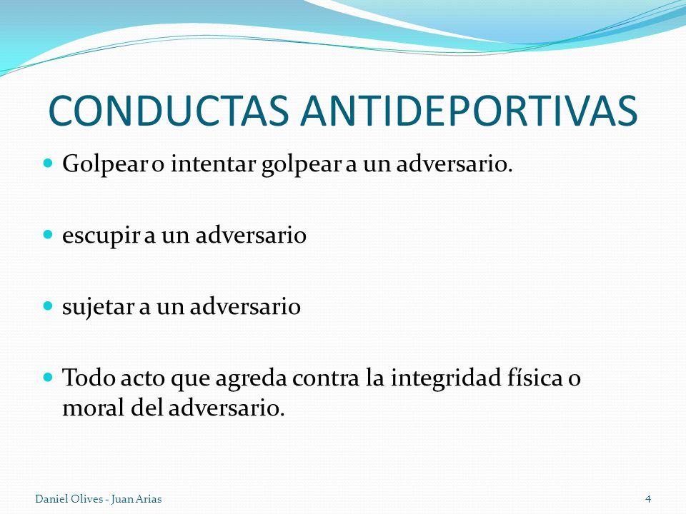 CONDUCTAS ANTIDEPORTIVAS