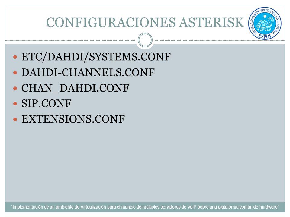 CONFIGURACIONES ASTERISK