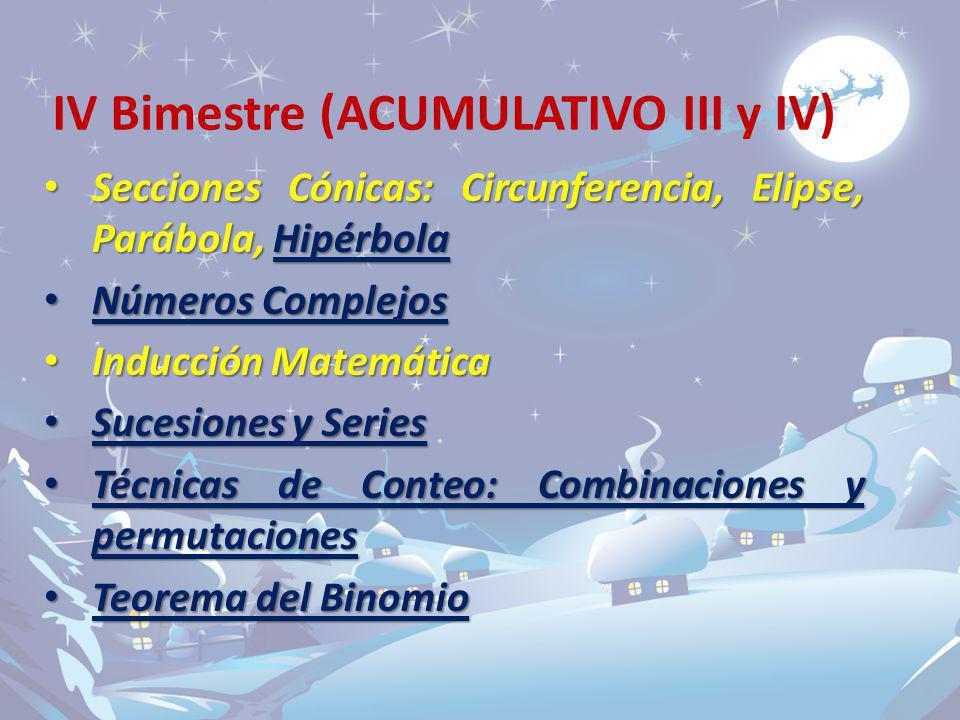 IV Bimestre (ACUMULATIVO III y IV)