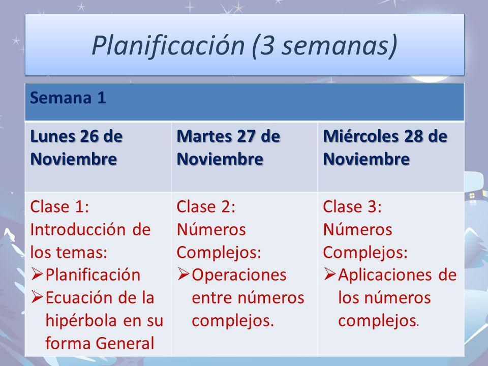 Planificación (3 semanas)
