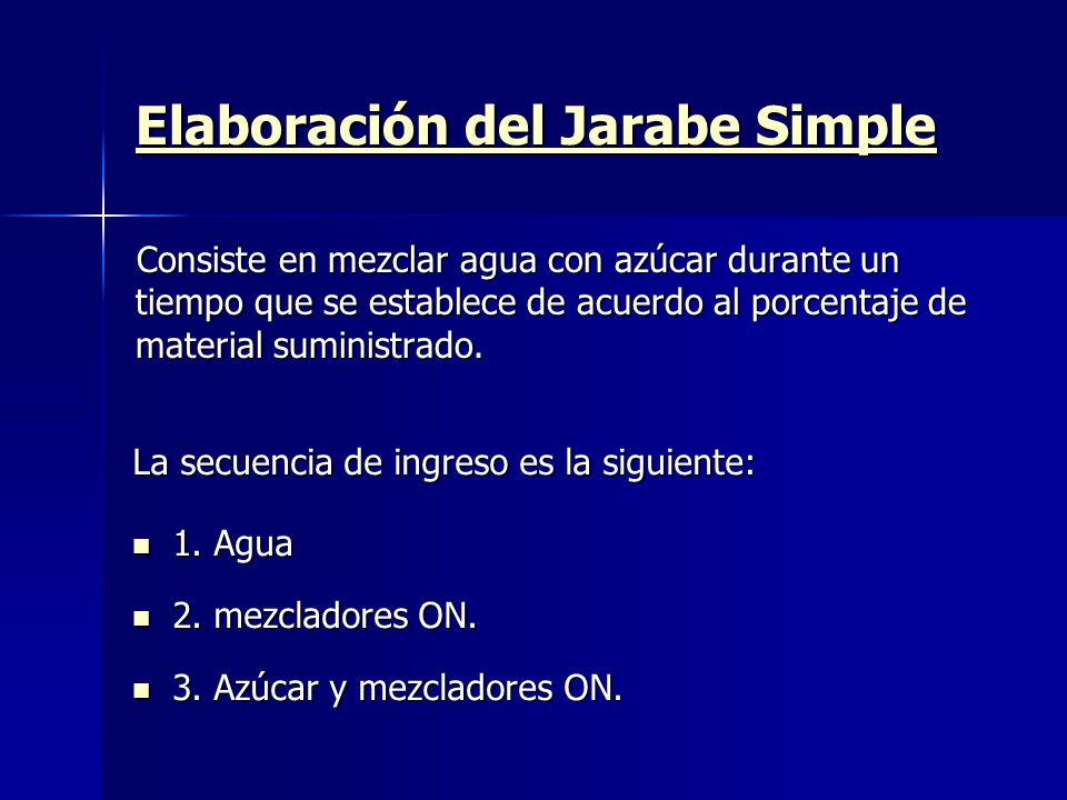 Elaboración del Jarabe Simple
