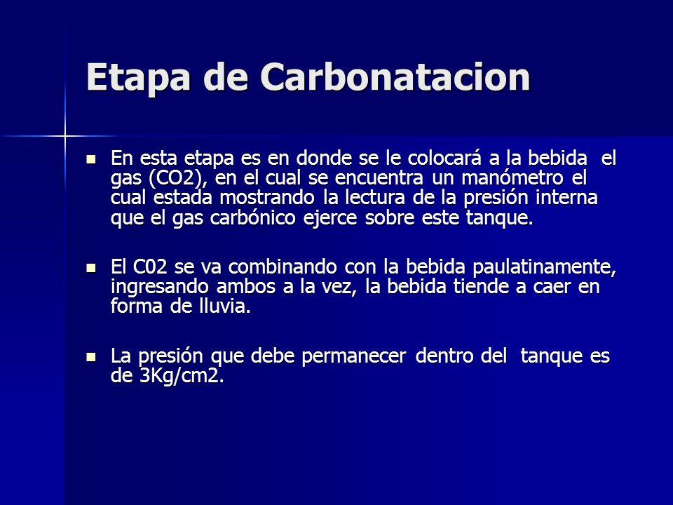 Etapa de Carbonatacion