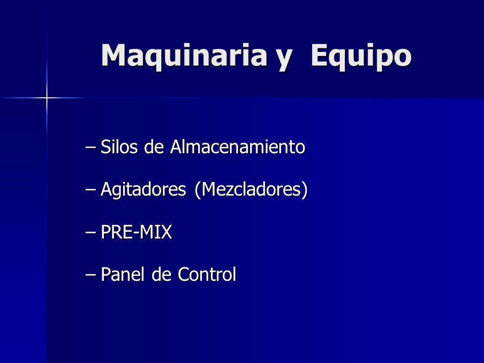 Maquinaria y Equipo Silos de Almacenamiento Agitadores (Mezcladores)