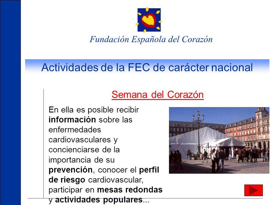 Actividades de la FEC de carácter nacional