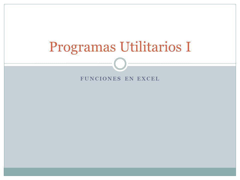 Programas Utilitarios I