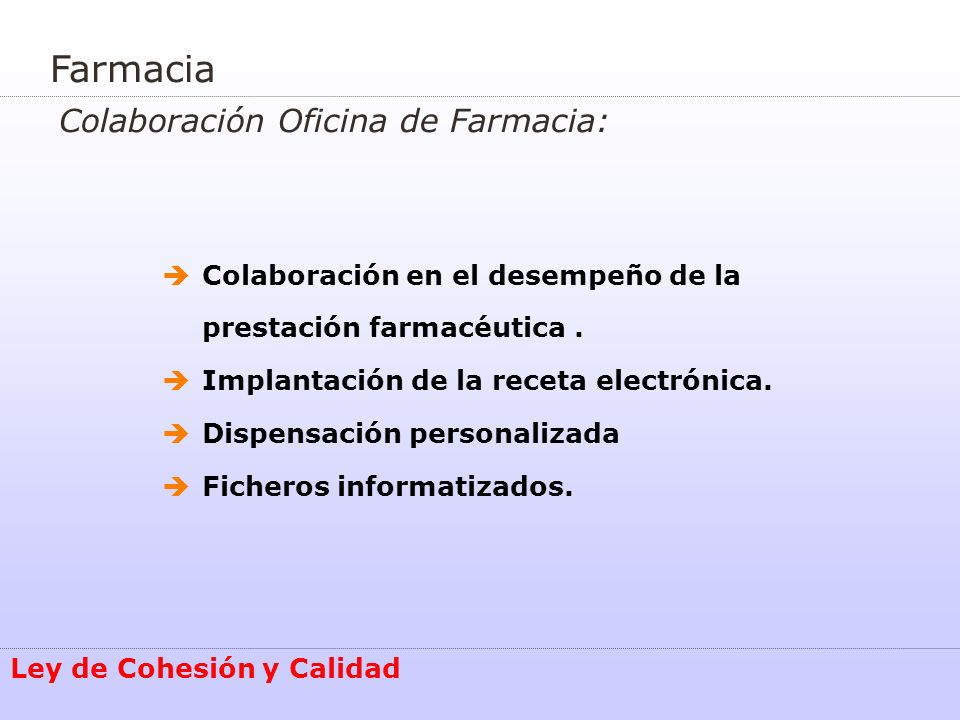 Farmacia Colaboración Oficina de Farmacia: