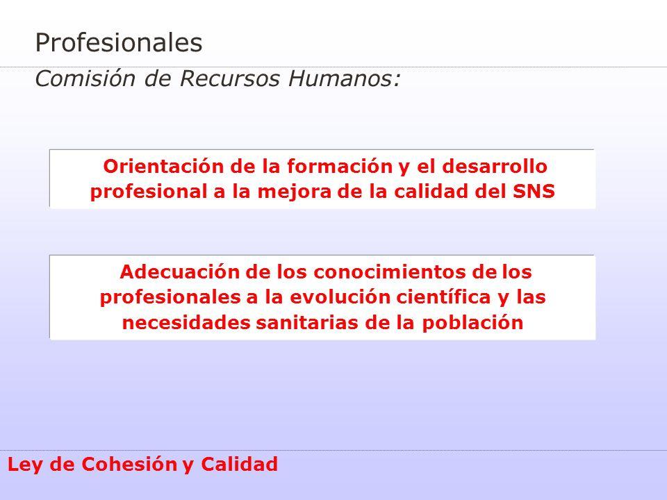 Profesionales Comisión de Recursos Humanos: