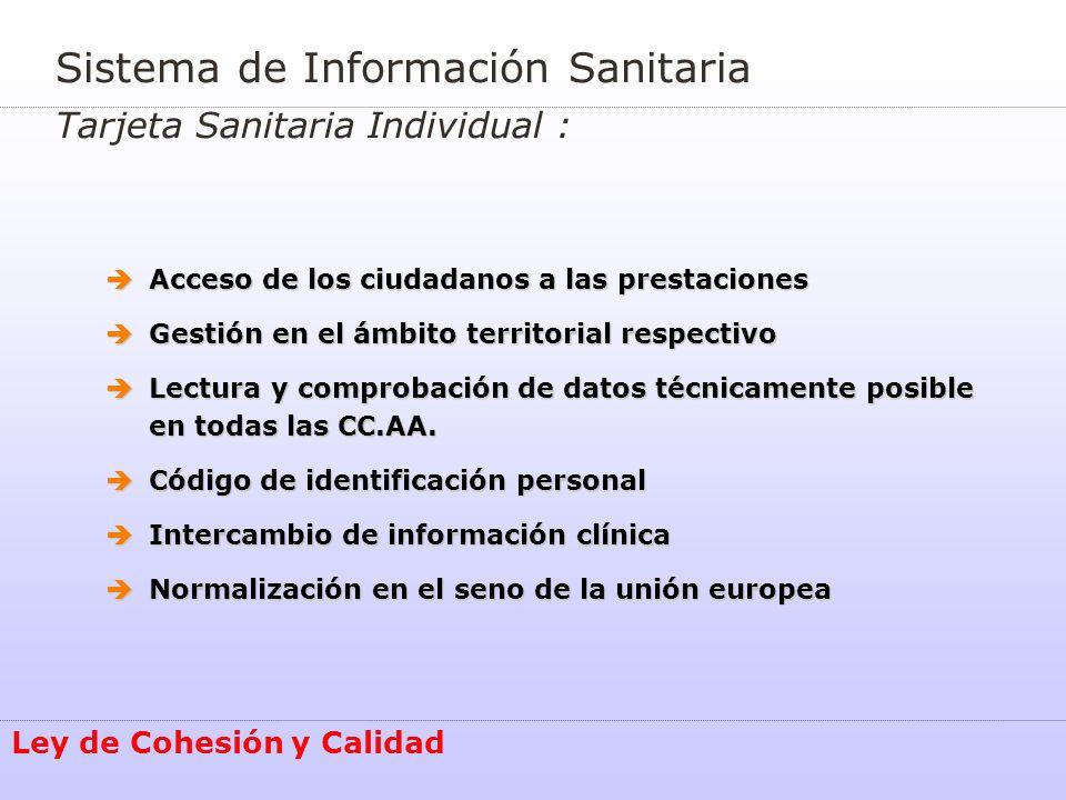 Sistema de Información Sanitaria Tarjeta Sanitaria Individual :