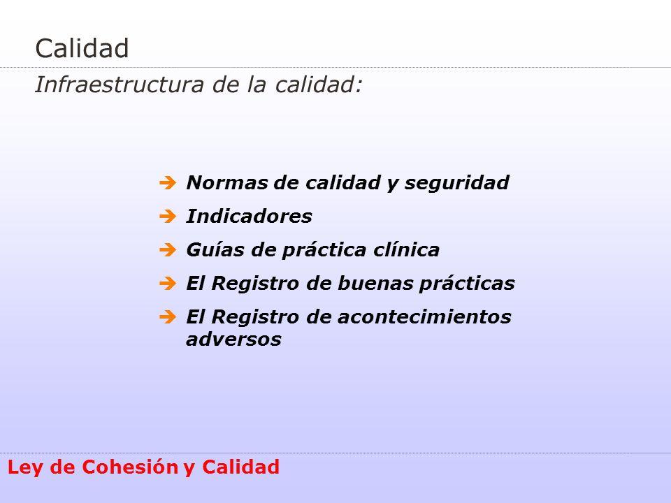 Calidad Infraestructura de la calidad: