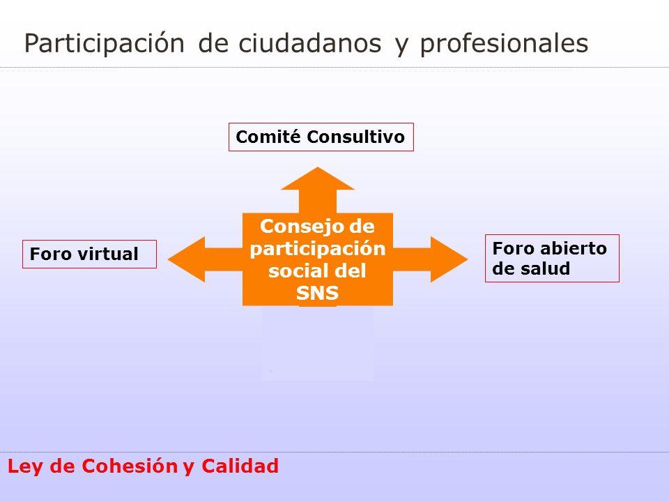 Consejo de participación social del SNS
