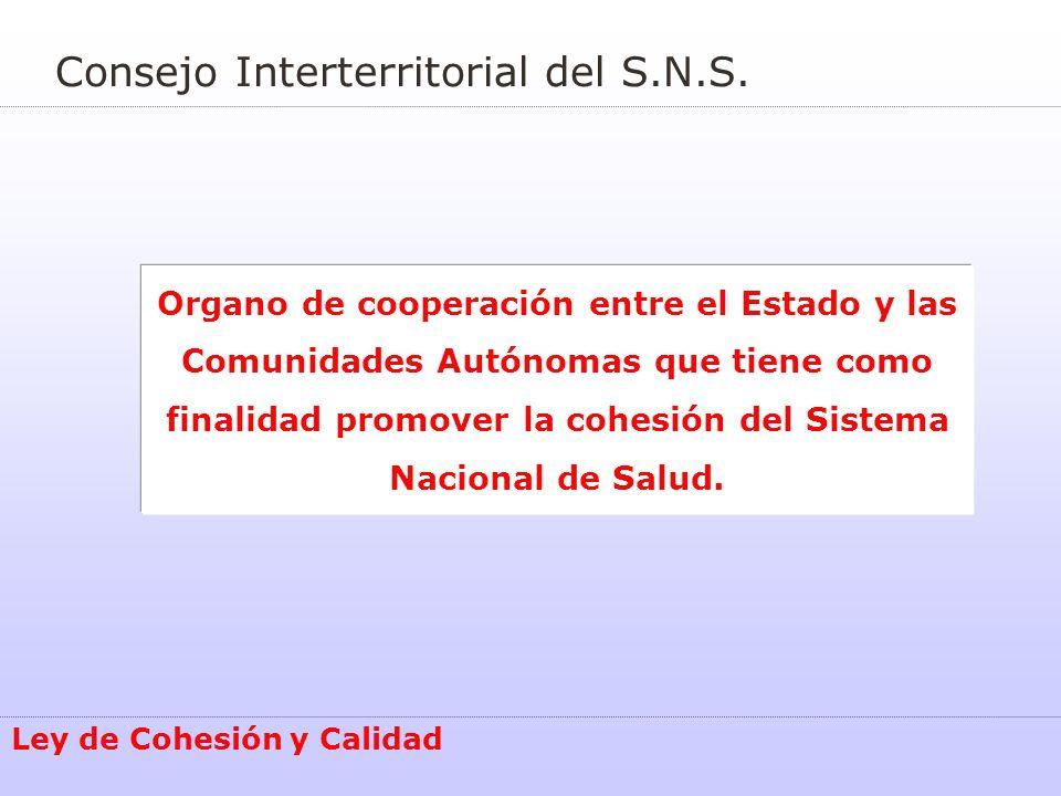 Consejo Interterritorial del S.N.S.