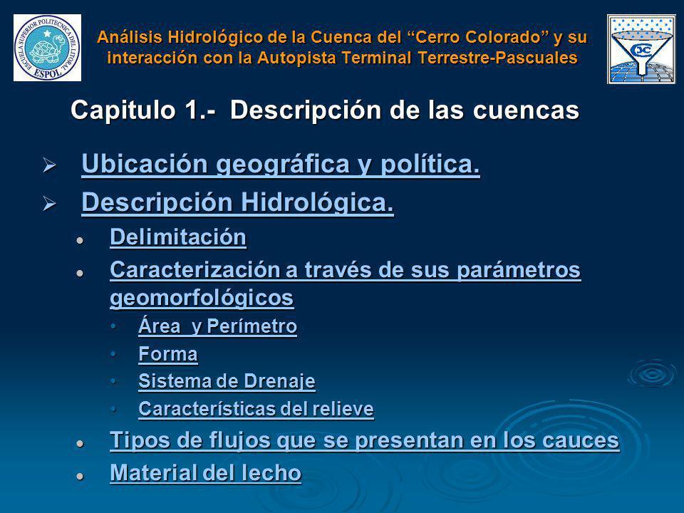 Capitulo 1.- Descripción de las cuencas