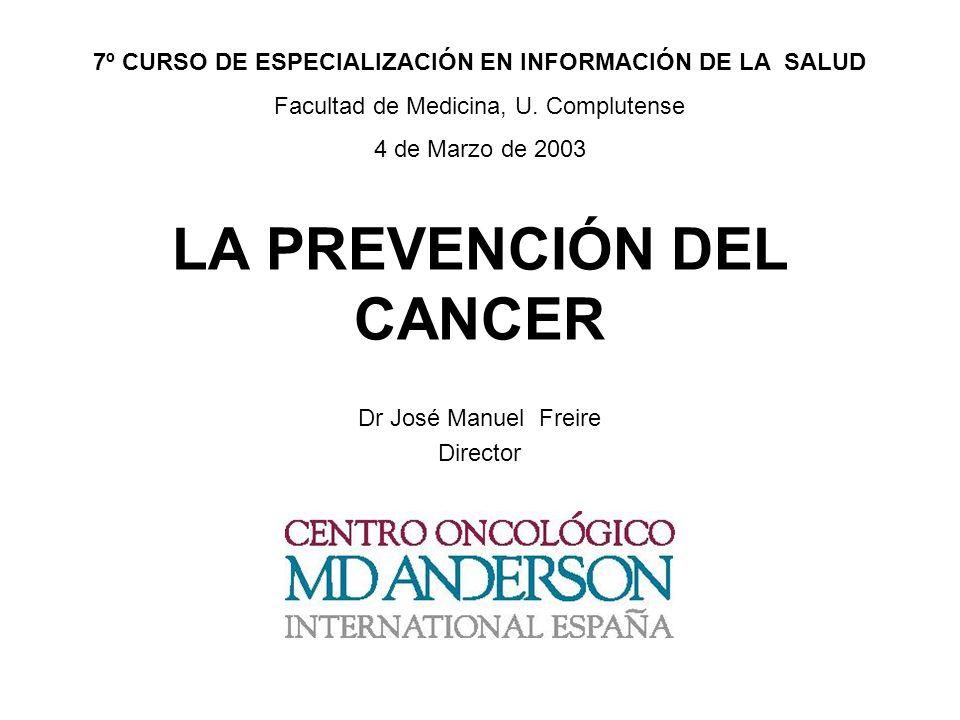 LA PREVENCIÓN DEL CANCER