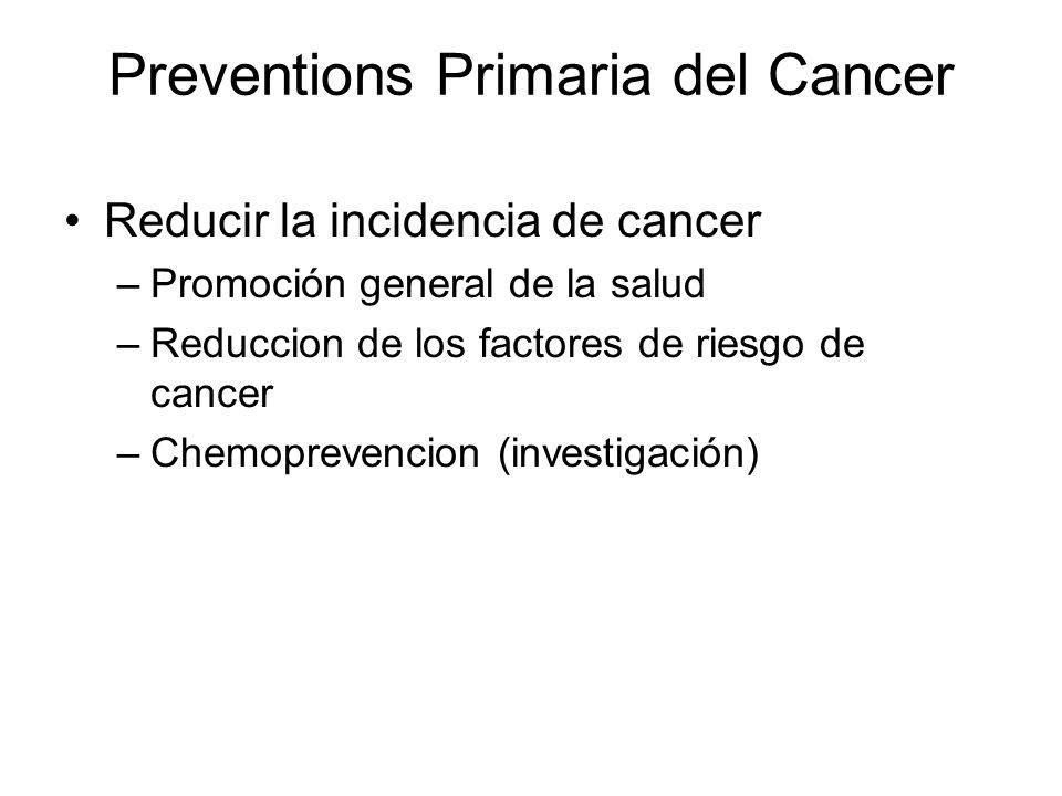 Preventions Primaria del Cancer