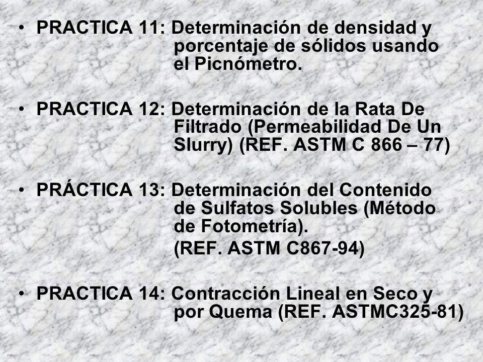 PRACTICA 11: Determinación de densidad y. porcentaje de sólidos usando