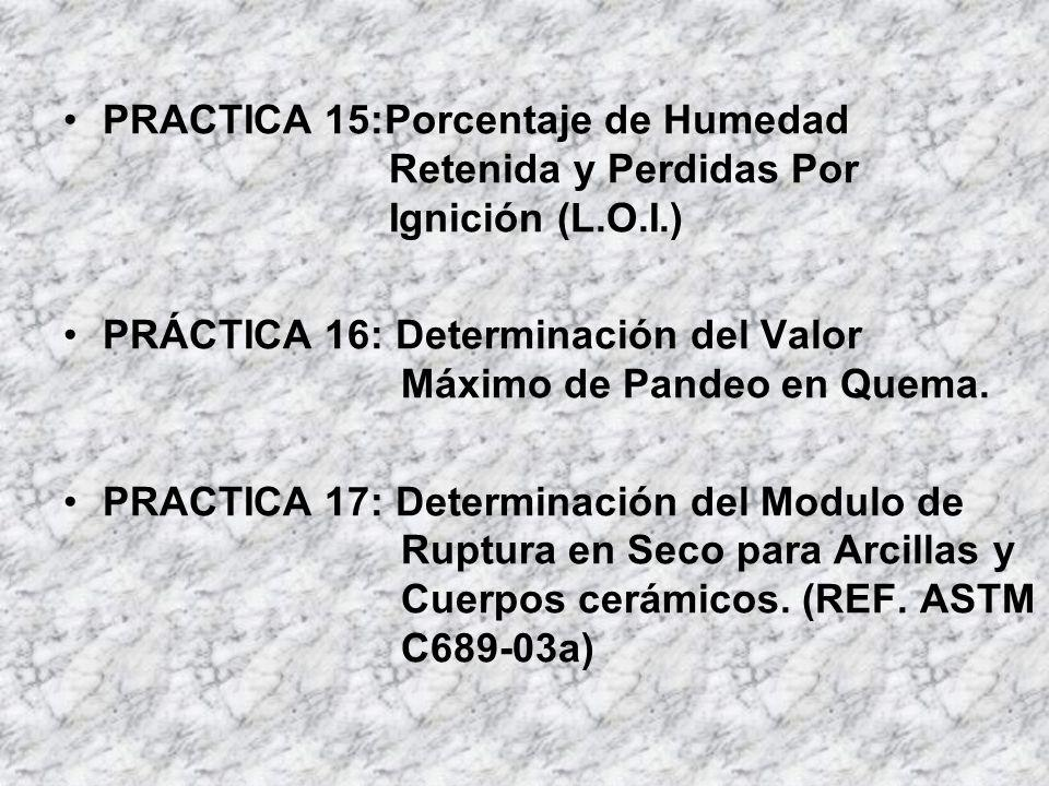 PRACTICA 15:Porcentaje de Humedad Retenida y Perdidas Por Ignición (L.O.I.)