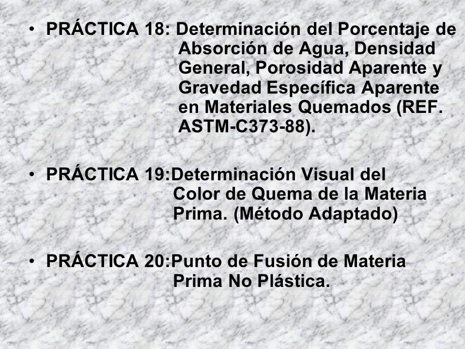 PRÁCTICA 18: Determinación del Porcentaje de