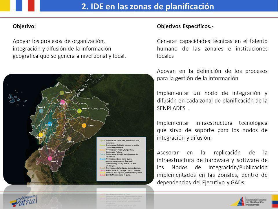 2. IDE en las zonas de planificación