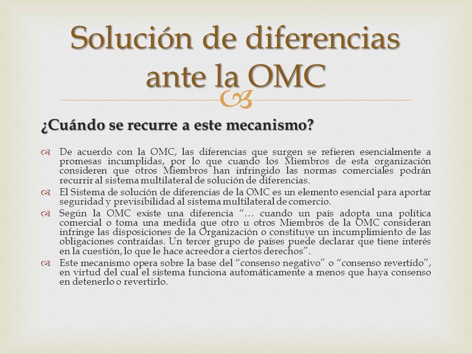 Solución de diferencias ante la OMC