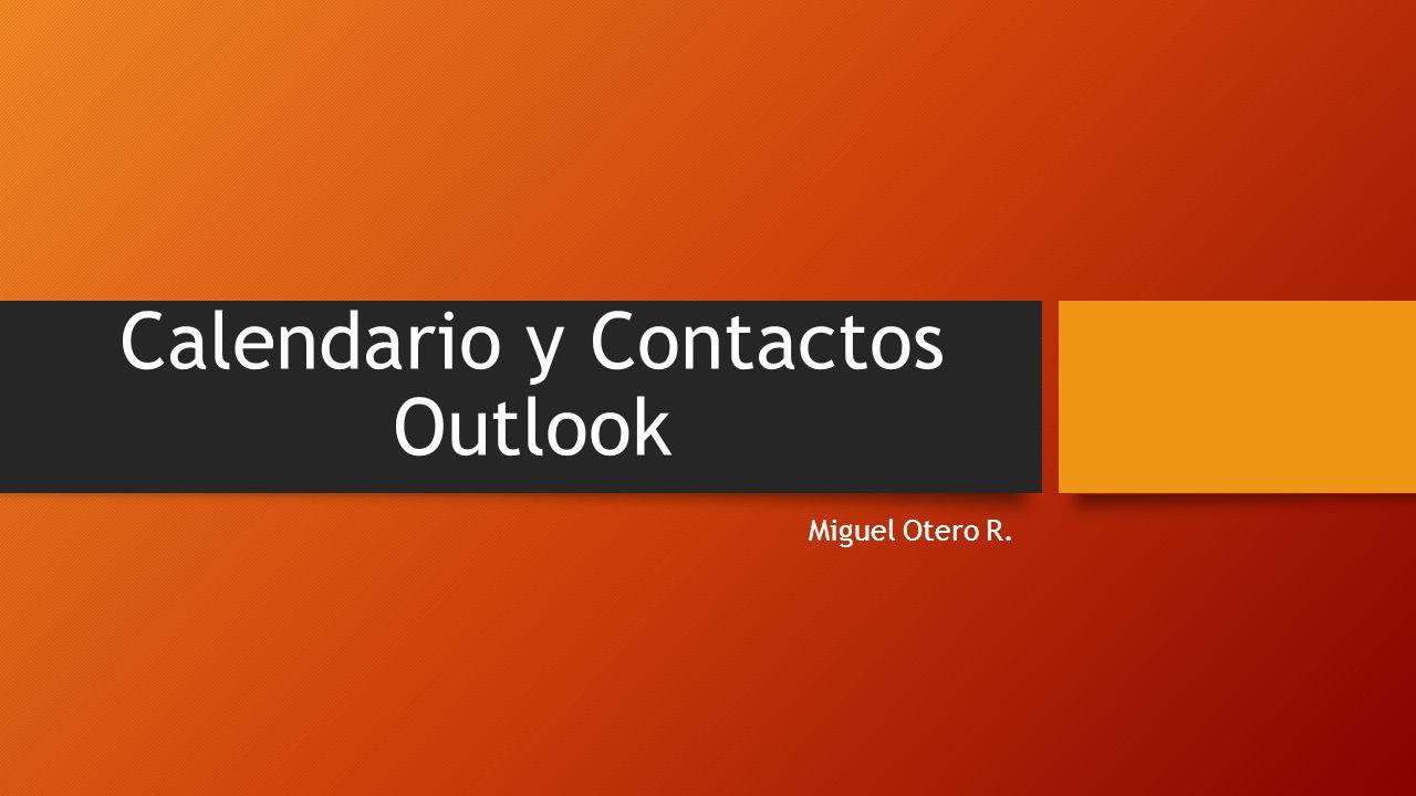 Calendario y Contactos Outlook