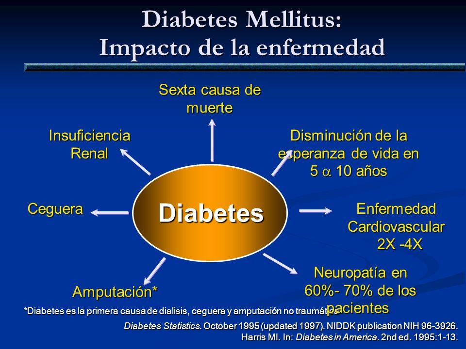 Diabetes Mellitus: Impacto de la enfermedad
