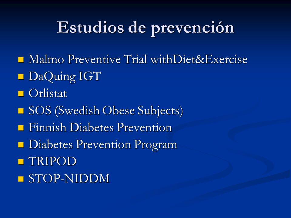 Estudios de prevención