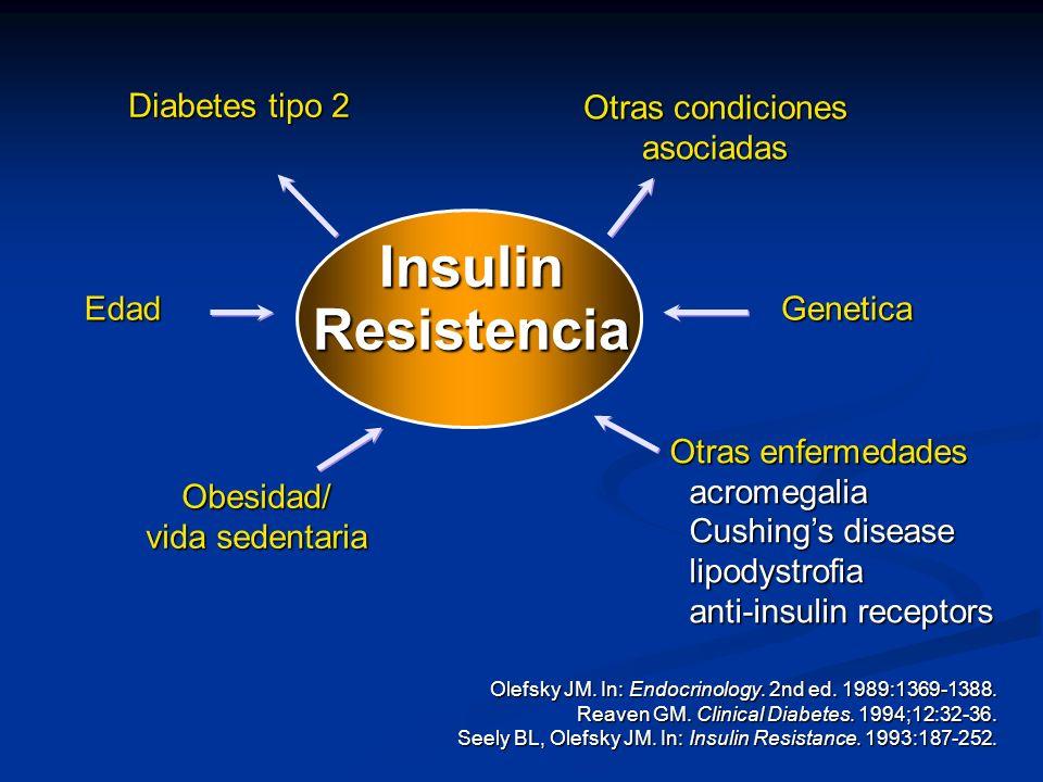Insulin Resistencia Diabetes tipo 2 Otras condiciones asociadas Edad