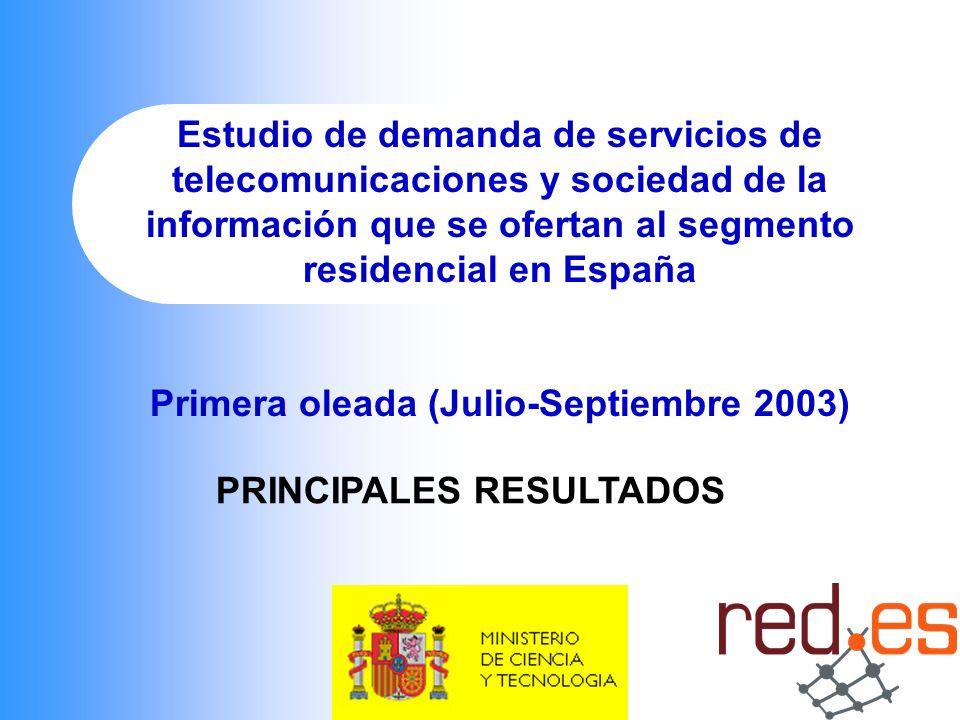 Primera oleada (Julio-Septiembre 2003) PRINCIPALES RESULTADOS