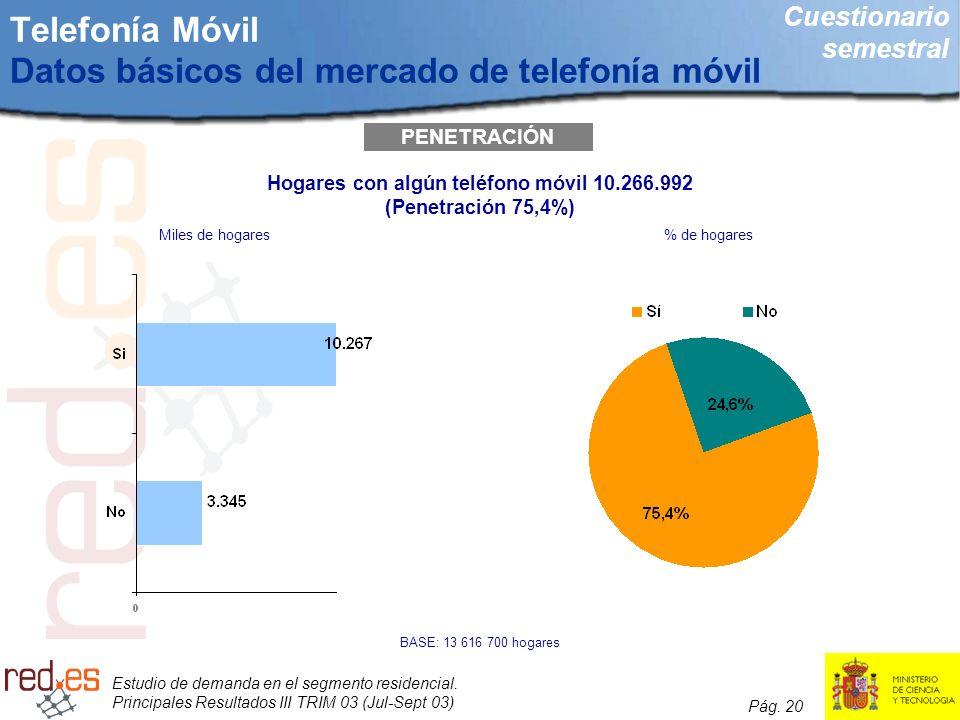 Telefonía Móvil Datos básicos del mercado de telefonía móvil