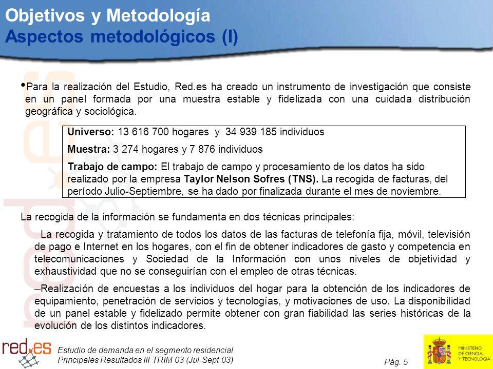 Objetivos y Metodología Aspectos metodológicos (I)