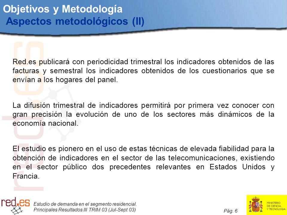 Objetivos y Metodología Aspectos metodológicos (II)