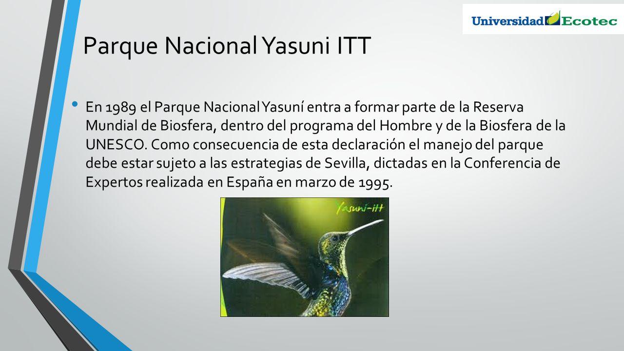 Parque Nacional Yasuni ITT