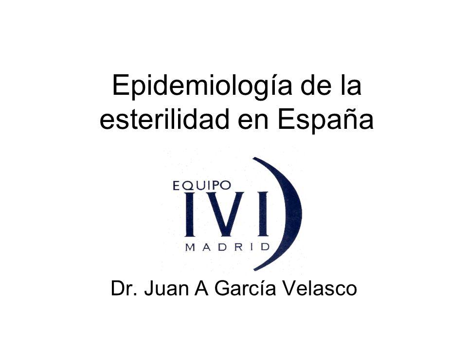 Epidemiología de la esterilidad en España