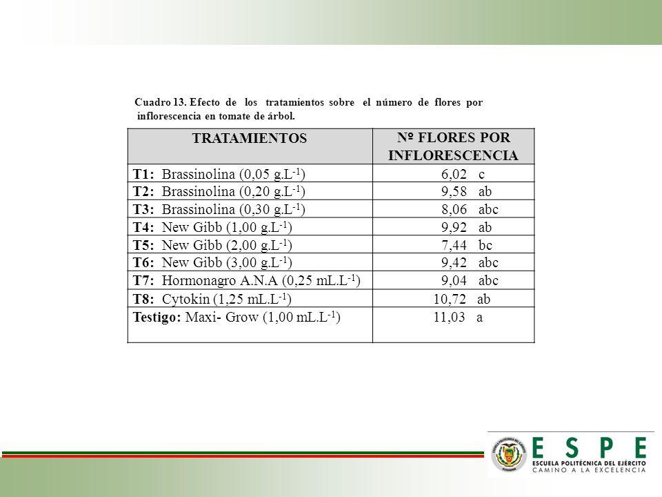 Nº FLORES POR INFLORESCENCIA