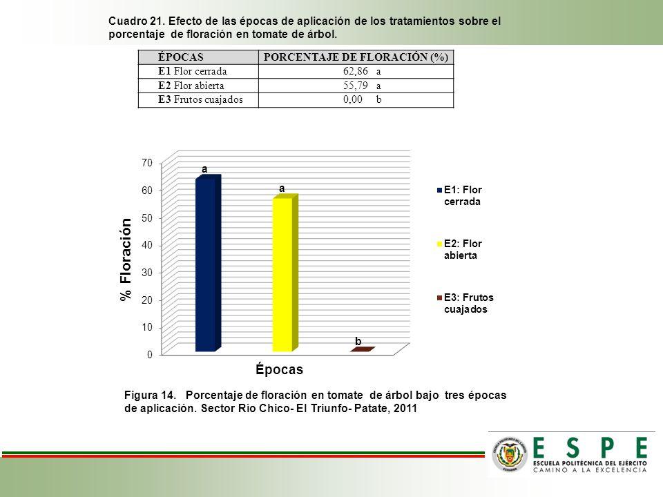 PORCENTAJE DE FLORACIÓN (%)