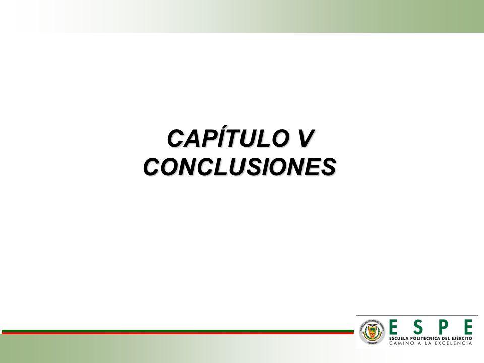 CAPÍTULO V CONCLUSIONES