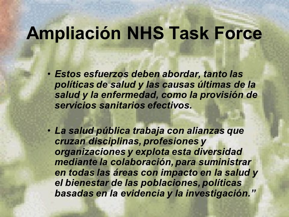 Ampliación NHS Task Force