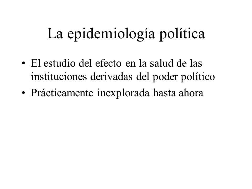 La epidemiología política