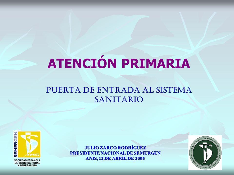 ATENCIÓN PRIMARIA PUERTA DE ENTRADA AL SISTEMA SANITARIO