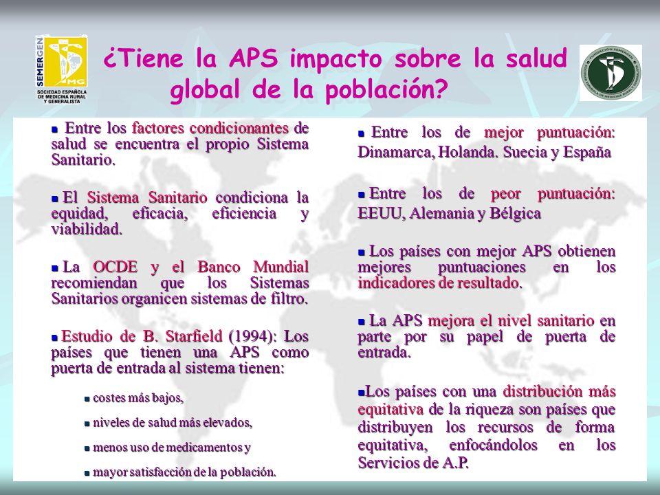 ¿Tiene la APS impacto sobre la salud global de la población