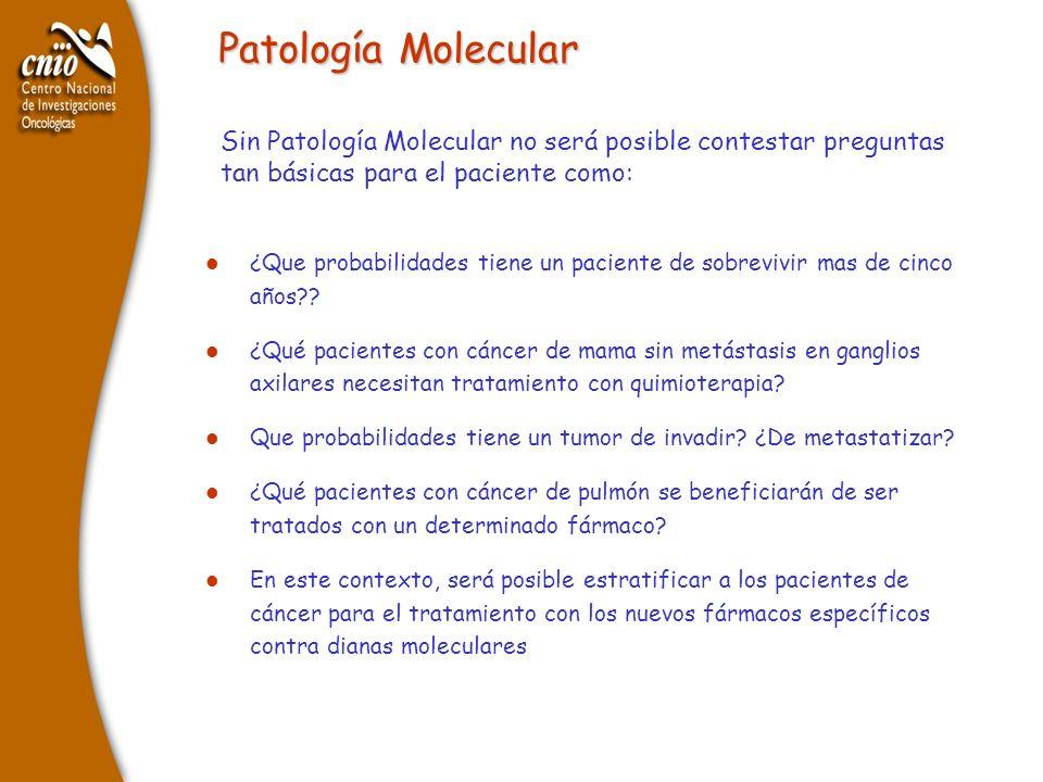 Patología Molecular Sin Patología Molecular no será posible contestar preguntas tan básicas para el paciente como: